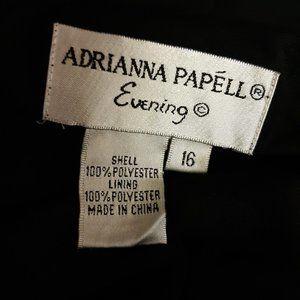 Adrianna Papell Dresses - Adrianna Papelle Hand Beaded Black Evening Dress